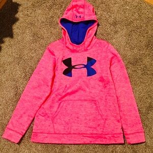 Pink Under Armour Hooded Sweatshirt Size Youth XL